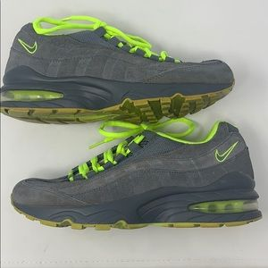 Nike air max neon green and gray 5Y